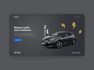 Nissan Leaf promo page ⚡