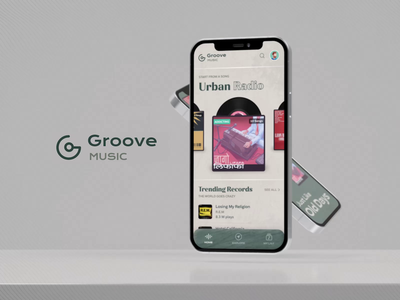 Just Like Old Times! musicplayer clean minimal iphone android ios recordplayer music animation branding logo ui interaction design design mobile app uiux