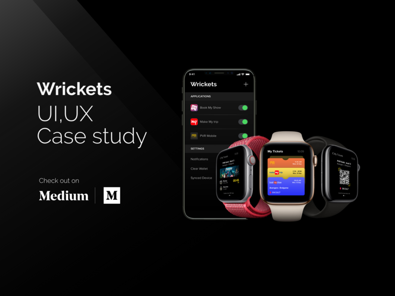 Wrickets | UI UX Case Study case study ios android smartwatch wearables applewatch apple ticketing booking app mobile app rapidgems studio interaction design uiux