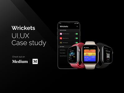 Wrickets   UI UX Case Study case study ios android smartwatch wearables applewatch apple ticketing booking app mobile app rapidgems studio interaction design uiux