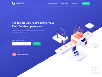 Field Service Landing Page | RapidFSM