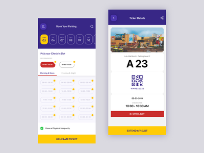 Parking at Malls Redefined | Parking Slot Booking App car ticket qrcode parking lot booking app booking cinema parking app e-commerce cart ux ios android apple movie design ui mobile app uiux