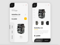 eCommerce App Vintage Camera