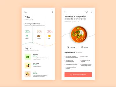 Diet Meal Plan Mobile App