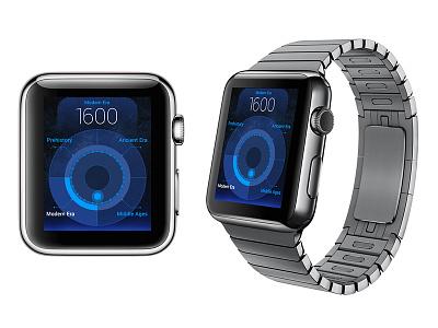 Time Traveler apple watch watch ui