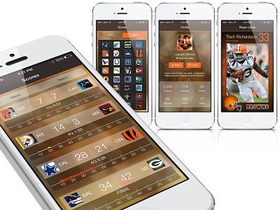 Football UI user experience ui sports football nfl