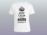 JORGE T Shirt Design