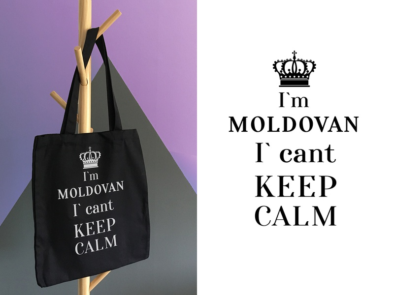 Design bag keep calm moldova logo bags