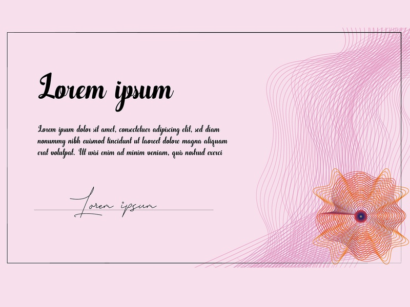 Certificate or diploma coupon design elegant document diploma certificate caligraphy