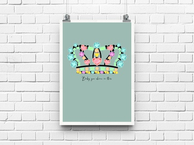Baby you shine in this! Poster crown
