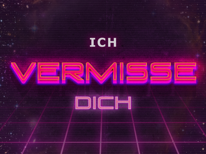 Ich vermisse dich design illustration missing love