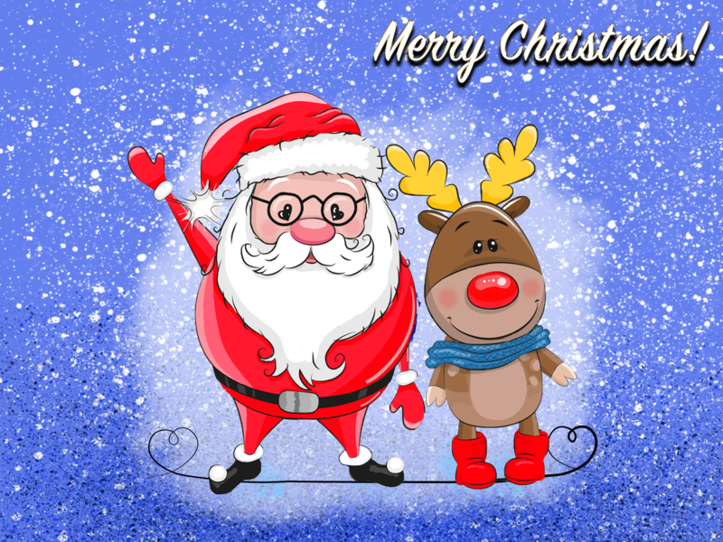 Merry Christmas font design snow illustration cartoon design children