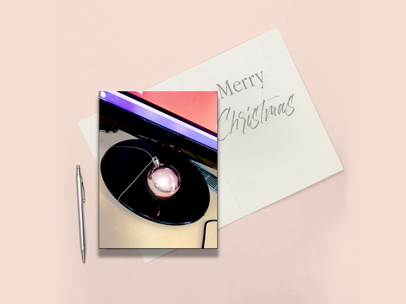 Greeting card Christmas background desktop design color toy pink merrychristmas gift greetingcard illustration