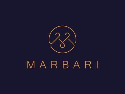 Marbari button letter hangers atelier design logo
