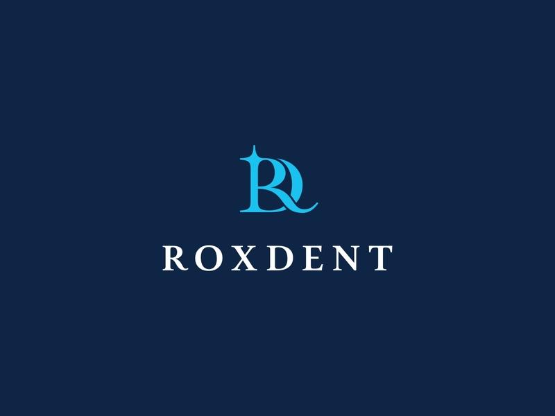 Roxdent flare tooth brand logo dental