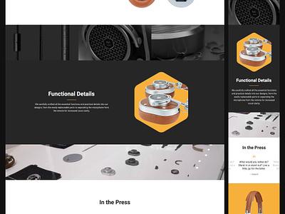 Quantz yellow headphones mobile theme web