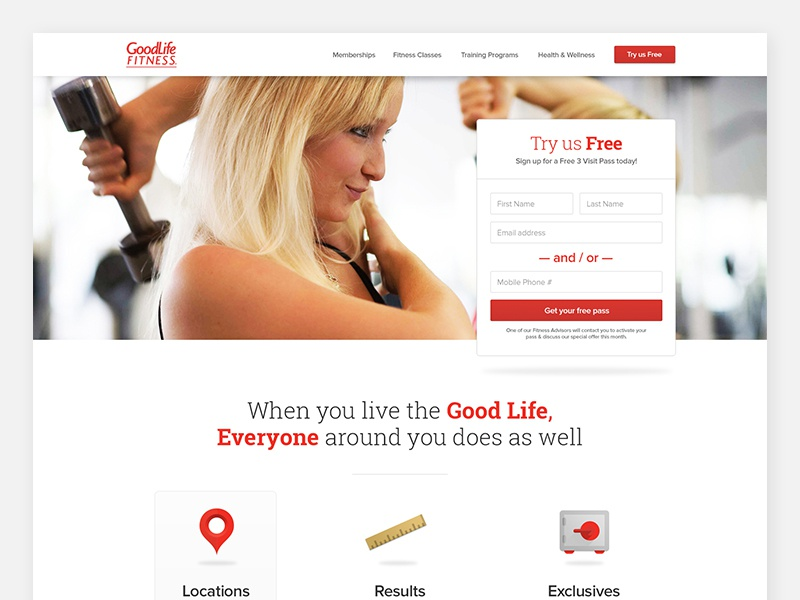 Goodlife - 2014 simple clean minimal website