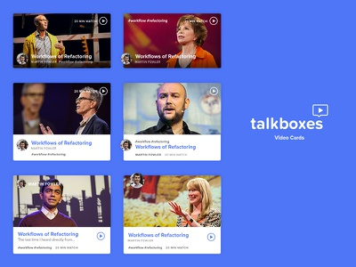 talkboxes - early concepts talks videos web app
