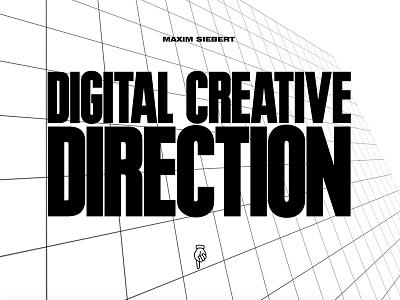 MaximSiebert.com web design portfolio web website black white ui simple typography