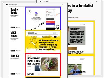 MaximSiebert.com clean simple fast portfolio designer brutalist web design product design case study