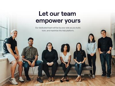 Customer Success Team photography customer success team website