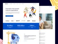 Ada – New Website design system illustration ux ui typography clean design branding web simple website web design