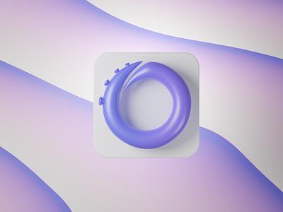 Octohook 3D logo blender octopus logo 3d