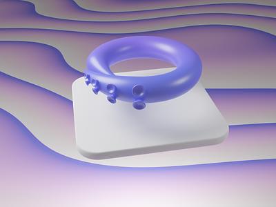 Octohook 3D logo (rotated) blender octopus logo 3d