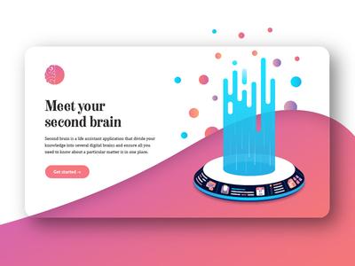 Second brain landing page