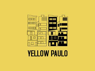 Ausscity - Yellow Paulo sao paulo yellow t-shirt building illustration