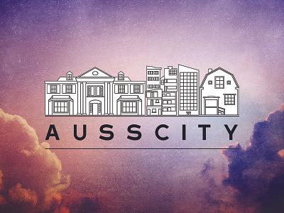 Ausscity - Logo draft logo t-shirt building illustration