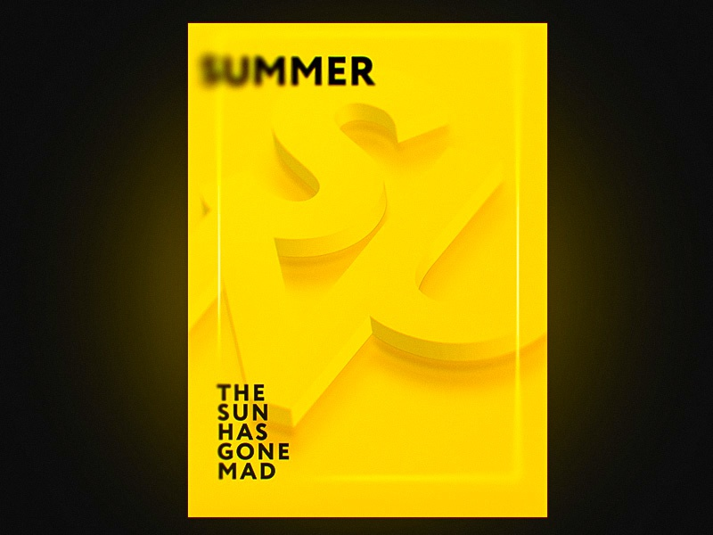 Sun poster graphic arto poster summer sun