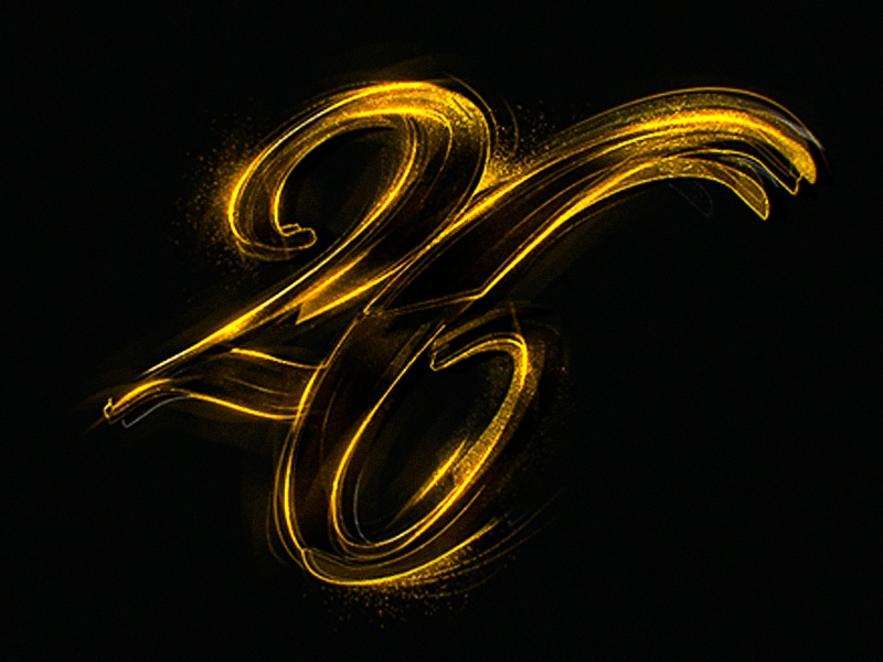 Gold Numbers vintage typography type numerals monogram lettering custom gold numbers