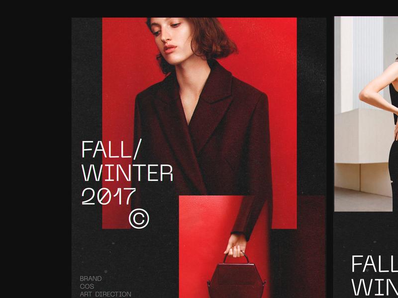 Cloth site web ui type graphics poster photoshop arto