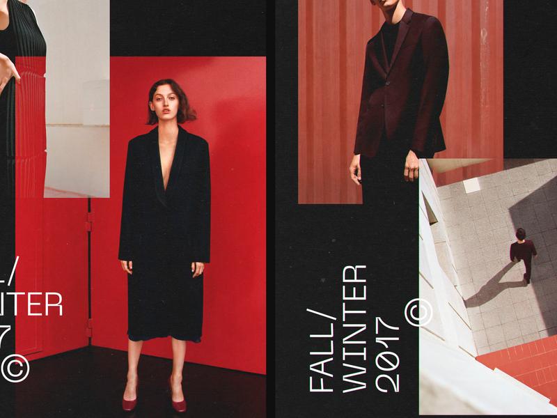 Cloth dark poster ui design graphic site photoshop arto web