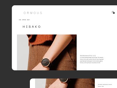 Online store concept ux ui design site web