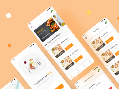 Food Delivery App | Meal Planner | 2 Dribbble Invite branding product design saransh verma dribbble invite dribbble invitation food delivery application food delivery service food delivery app food delivery meal meal plan meal planner meals mobile app design mobile design mobile app mobile ui mobile uxdesign uidesign