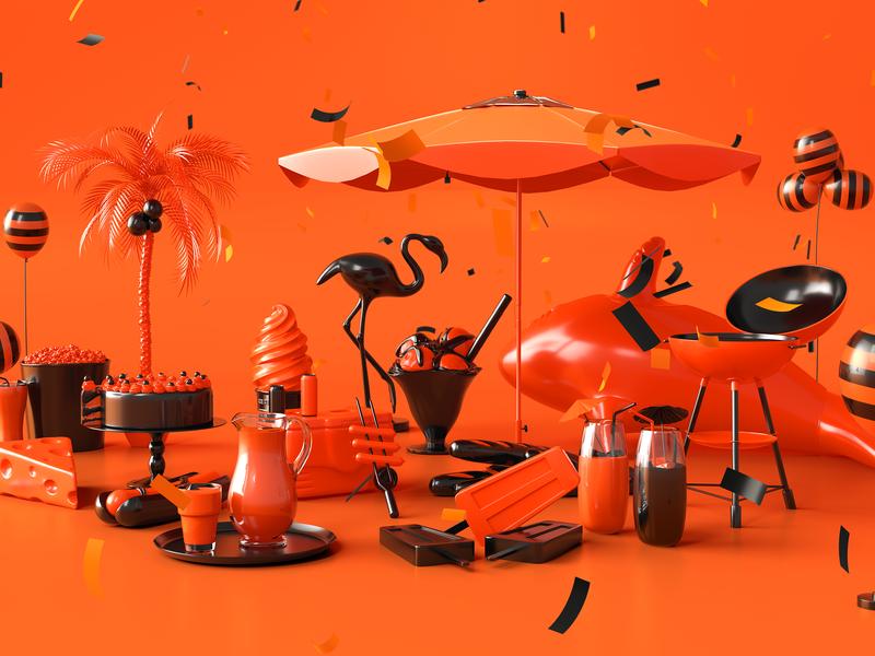 Celeiro Aniversário 2019 celeiro arnold renderer varejo c4d 3d cinema 4d