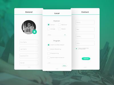 Application form information input webdesign web design ui ux form application