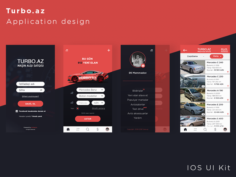 Car Shopping App >> Turbo Az Car Buying App Ios Ui Kit By Arkhay Farajli On
