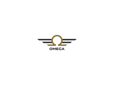 Omega gold wings icon channel podcast game azerbaijan ui ux omega logo design