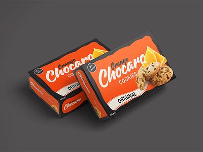 Packing for the Chocaro cookies chocolate orange branding vector box style azerbaijan illustration talysh package design packing cookie chocaro