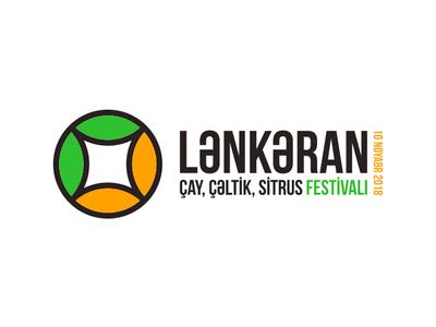 Lankaran Fest style illustration typography vector branding design logotypedesign green orange logo lankaran azerbaijan citrus festival fest tea wheat