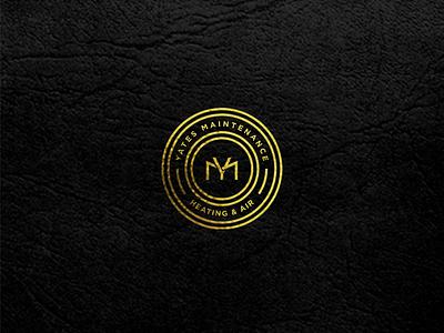 YM Monogram logo free app minimal typography branding ux ui style design gold black and gold black luxury logo monogram design monogram logo ym