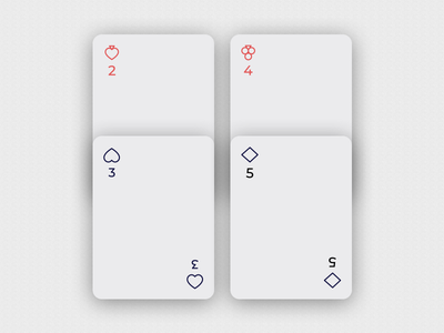 Playing Cards minimalistic number prompt warmup weekly style design heart cards icons play playing card