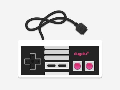 Dugalu controller nintendo control dugalu cable buttons flat select start plug