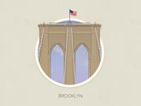 Brooklyn bridge badge