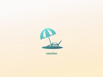 Icon : vacation resort holiday sunbed beach rest leisure vacation