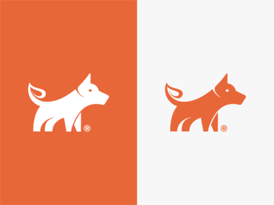Dog + Leaf Logo designs