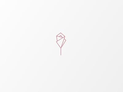 Daily Logo #12 | Origami Rose illustrator illustration vector logo icon design branding